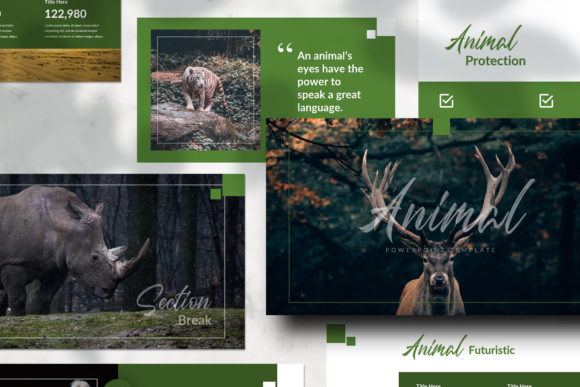Download Free Animal Powerpoint Presentation Graphic By Qohhaarqhaz Creative for Cricut Explore, Silhouette and other cutting machines.