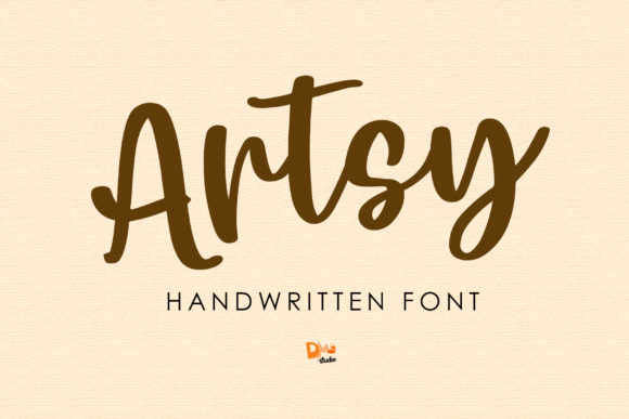 Print on Demand: Artsy Script & Handwritten Font By dmletter31