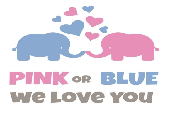 Download Free Baby Shower Pink Or Blue We Love Graphic By Printvectors for Cricut Explore, Silhouette and other cutting machines.