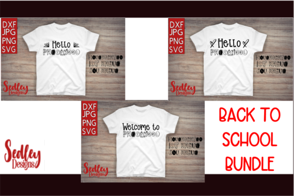 Download Free Back To School Prek 2nd Grade Bundle Graphic By Sedley Designs for Cricut Explore, Silhouette and other cutting machines.