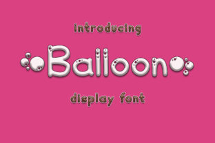 Print on Demand: Balloon Display Schriftarten von Fillo Graphic