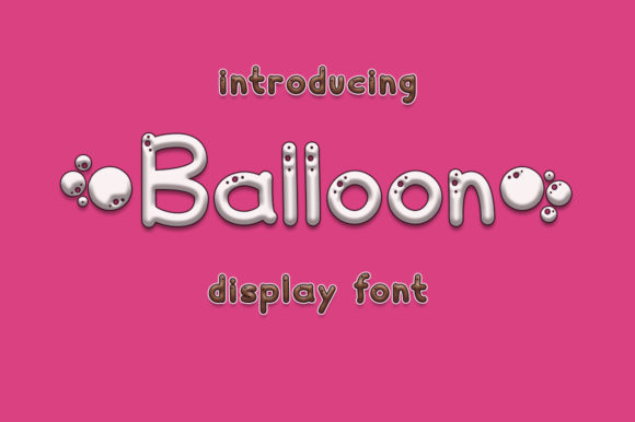 Print on Demand: Balloon Display Font By Fillo Graphic