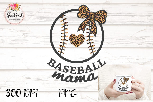 Download Free Baseball Mama Mom Leopard Clipart Grafico Por Shepixel for Cricut Explore, Silhouette and other cutting machines.