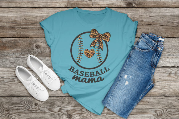 Download Free Baseball Mama Mom Leopard Clipart Graphic By Shepixel Creative for Cricut Explore, Silhouette and other cutting machines.