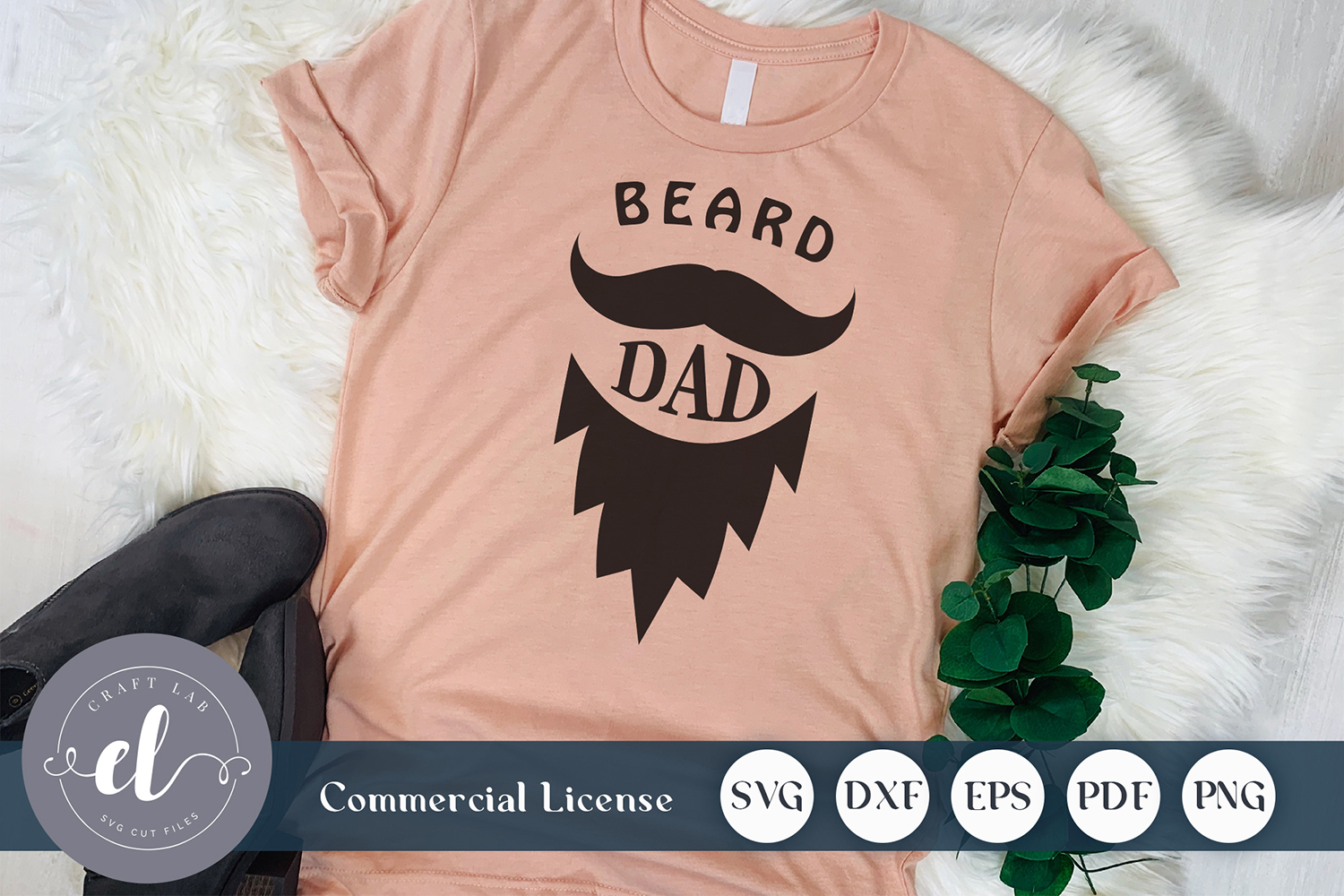 Download Free Beard Dad Graphic By Craftlabsvg Creative Fabrica for Cricut Explore, Silhouette and other cutting machines.