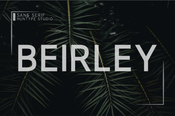 Print on Demand: Beirley Sans Serif Font By Huntype