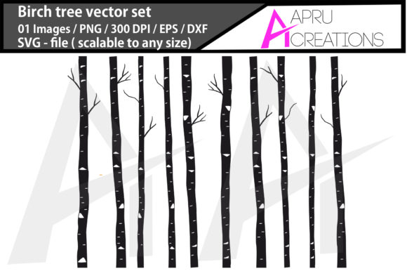 Download Free Birch Tree Silhouette Graphic By Aparnastjp Creative Fabrica for Cricut Explore, Silhouette and other cutting machines.