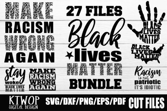 Print on Demand: Black Lives Matter -  27 Files Bundle Graphic Crafts By KtwoP