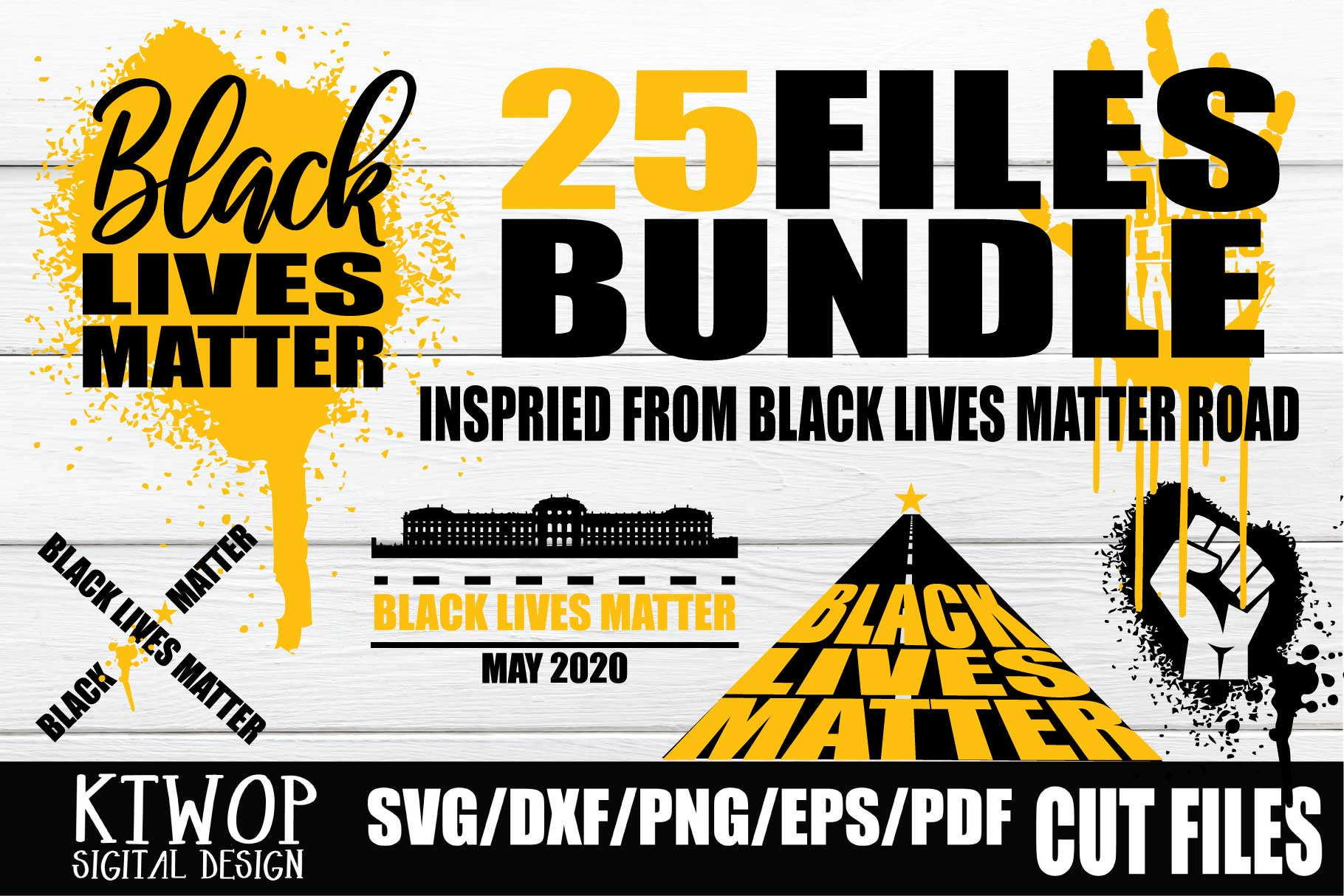 Download Free Black Lives Matter Bundle Graphic By Ktwop Creative Fabrica for Cricut Explore, Silhouette and other cutting machines.