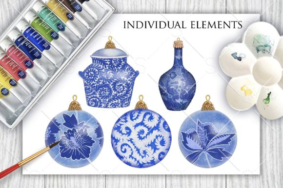 Download Free China Blue Christmas Graphic By Starstudiooriginals Creative SVG Cut Files