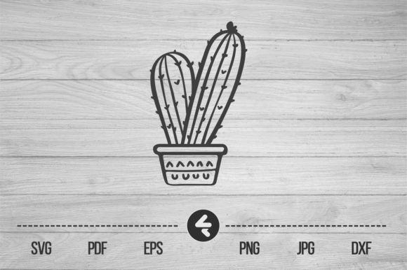 Download Free Cactus Graphic By Flocalliastore Creative Fabrica for Cricut Explore, Silhouette and other cutting machines.