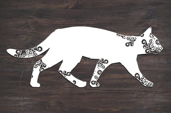 Download Free Cat Kitten Mandala Graphic By Fortunasvg Creative Fabrica for Cricut Explore, Silhouette and other cutting machines.