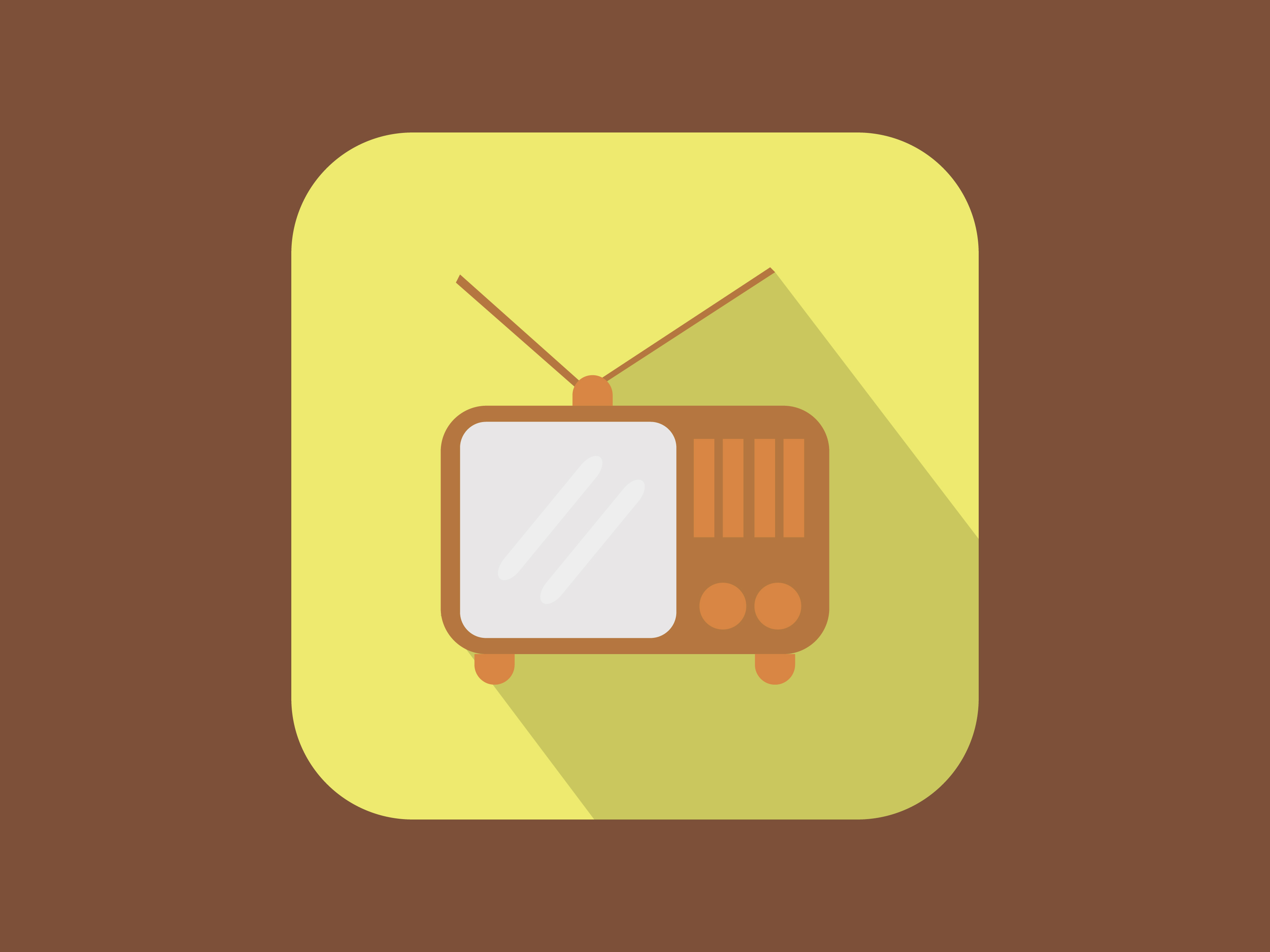 Download Free Classic Television Icon Modern Color Graphic By Meandmydate for Cricut Explore, Silhouette and other cutting machines.