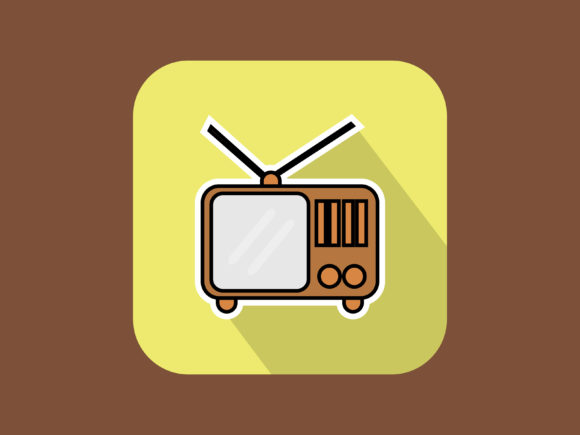Download Free Classic Television Icon Modern Outline Graphic By Meandmydate for Cricut Explore, Silhouette and other cutting machines.