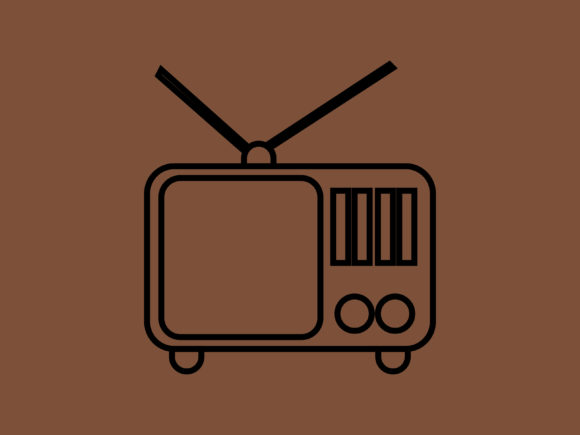 Print on Demand: Classic Television Icon Only Outline Graphic Icons By meandmydate