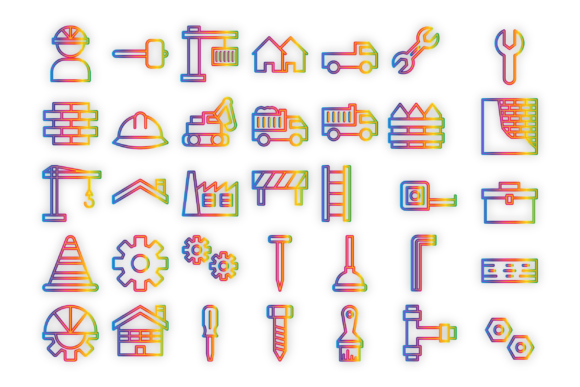 Constructions and Work Graphic Icons By Designvector10