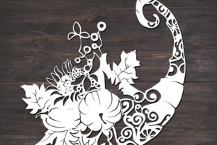 Download Free Cornucopia Thanksgiving Fall Graphic By Fortunasvg Creative for Cricut Explore, Silhouette and other cutting machines.