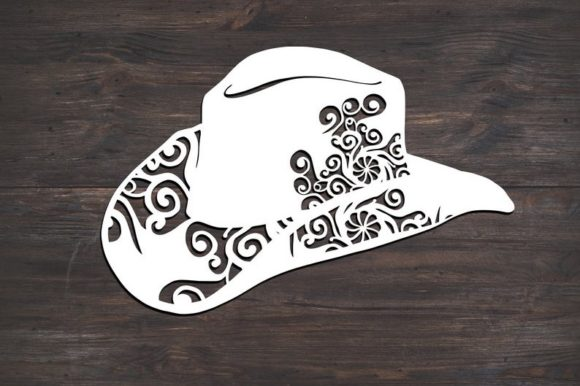 Download Free Cowboy Hat Western Mandala Graphic By Fortunasvg Creative Fabrica for Cricut Explore, Silhouette and other cutting machines.
