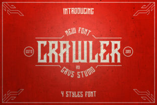 Print on Demand: Crawler Blackletter Font By febryan.satria1