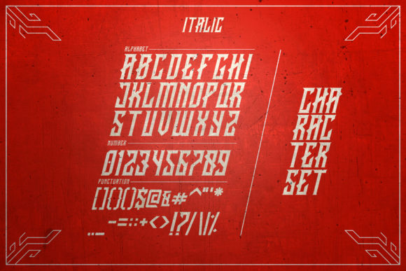 Print on Demand: Crawler Blackletter Font By febryan.satria1 - Image 10