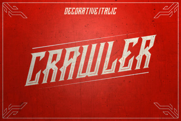 Print on Demand: Crawler Blackletter Font By febryan.satria1 - Image 2