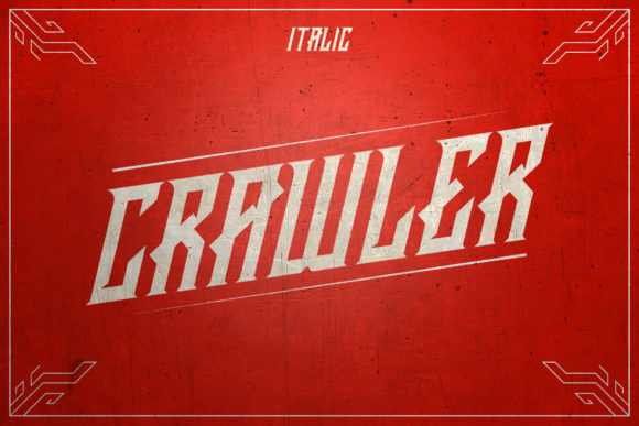 Print on Demand: Crawler Blackletter Font By febryan.satria1 - Image 3