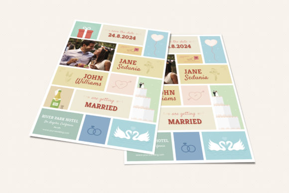Download Free Cute Wedding And Invitation Card V02 Graphic By Sargatal for Cricut Explore, Silhouette and other cutting machines.