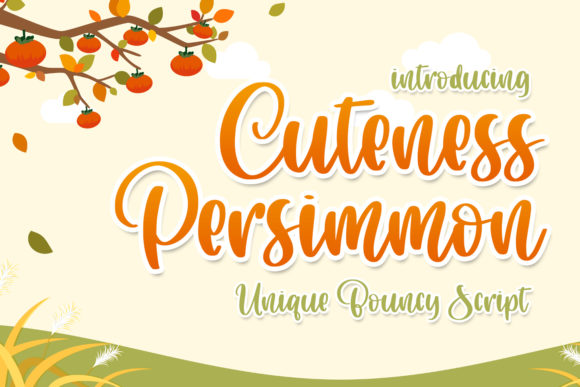 Download Free Cuteness Persimmon Font By Abodaniel Creative Fabrica for Cricut Explore, Silhouette and other cutting machines.