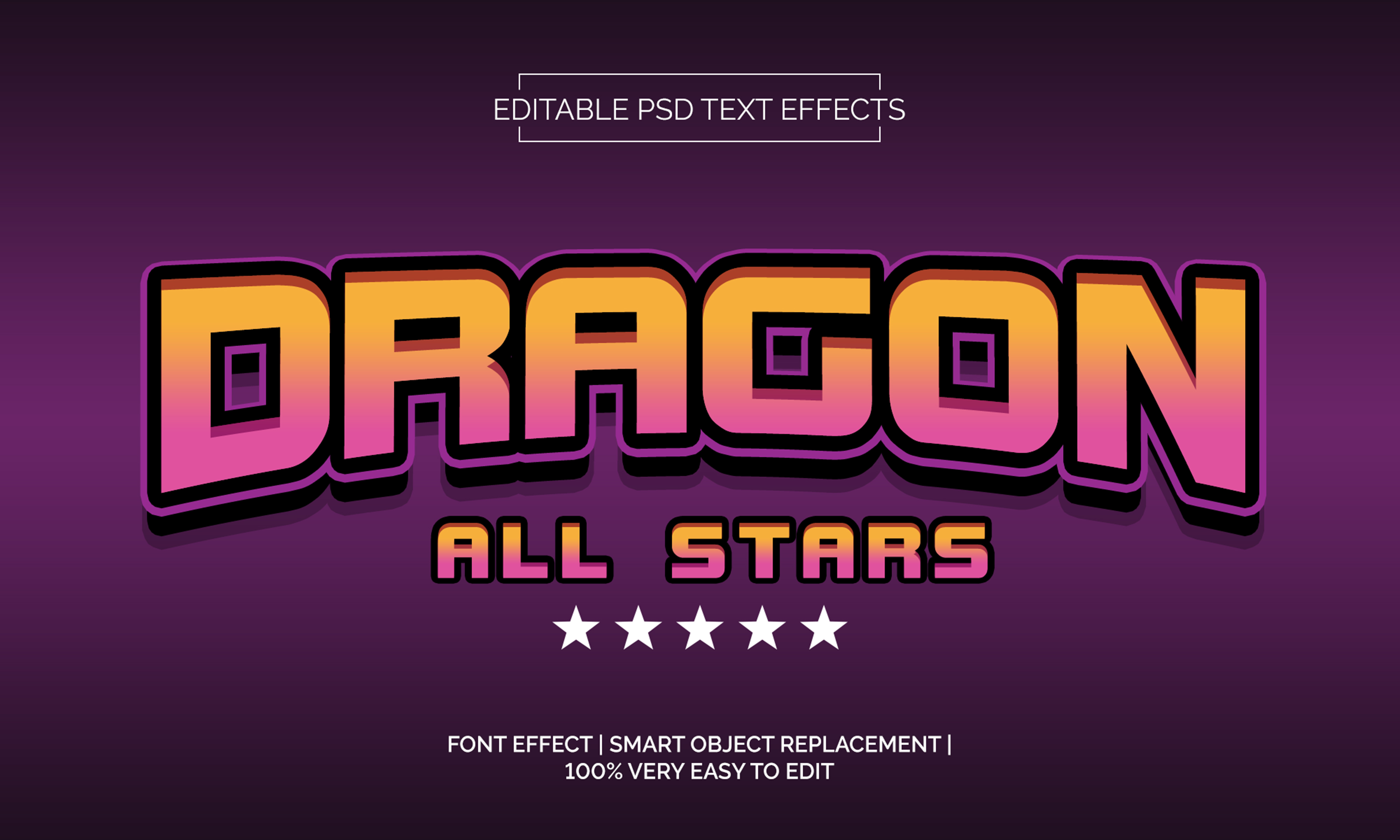 Download Free Dragon All Start Text Effects Style Graphic By Neyansterdam17 for Cricut Explore, Silhouette and other cutting machines.