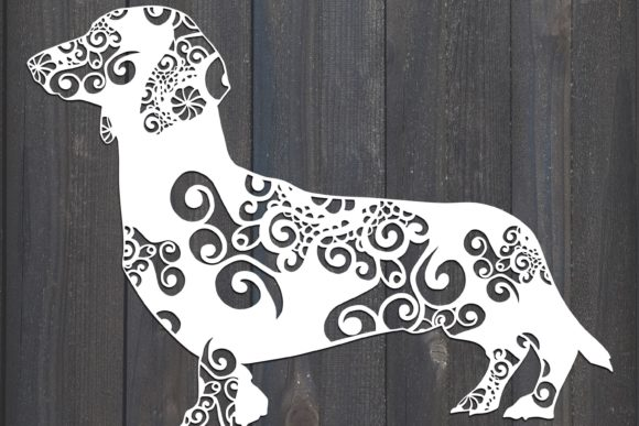 Download Free Dachshunds Dog Graphic By Fortunasvg Creative Fabrica for Cricut Explore, Silhouette and other cutting machines.