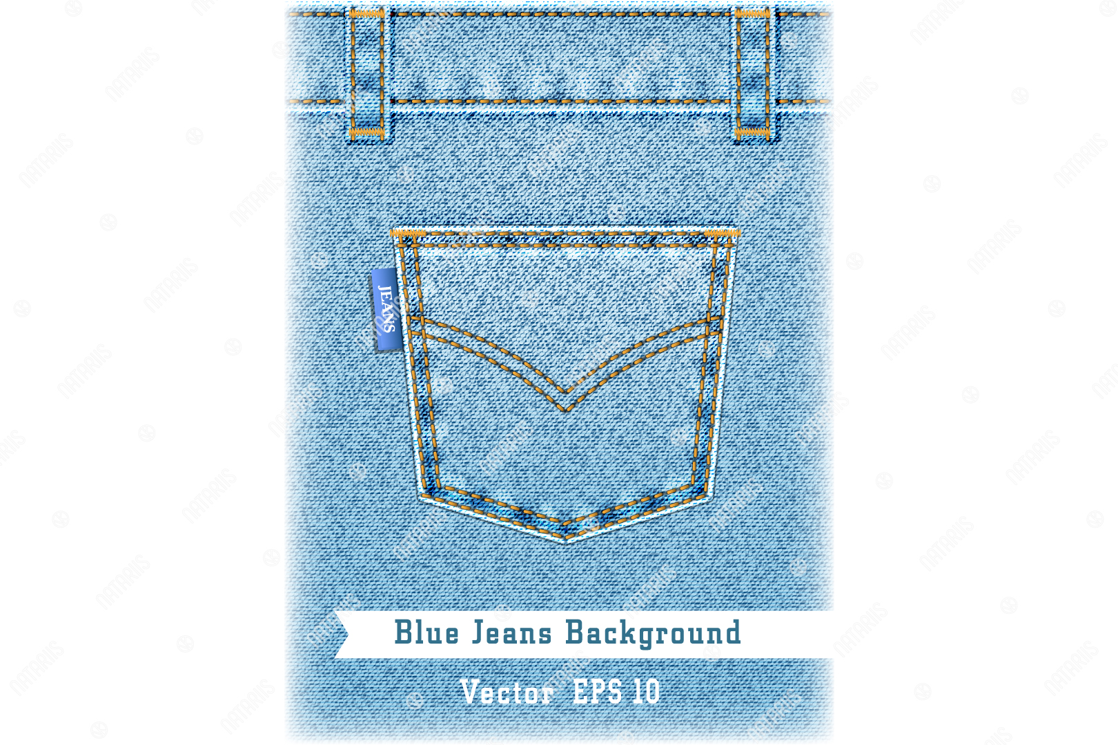 Download Free Denim Texture With Pocket Graphic By Natariis Studio Creative for Cricut Explore, Silhouette and other cutting machines.