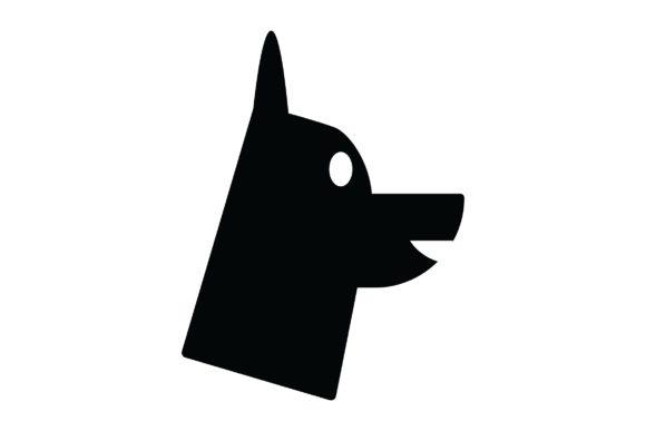 Print on Demand: Dog Head Graphic Icons By Tigade std