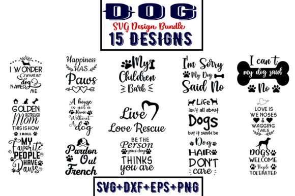 Download Free Dog Bundle Part 2 Graphic By Design Store Creative Fabrica for Cricut Explore, Silhouette and other cutting machines.
