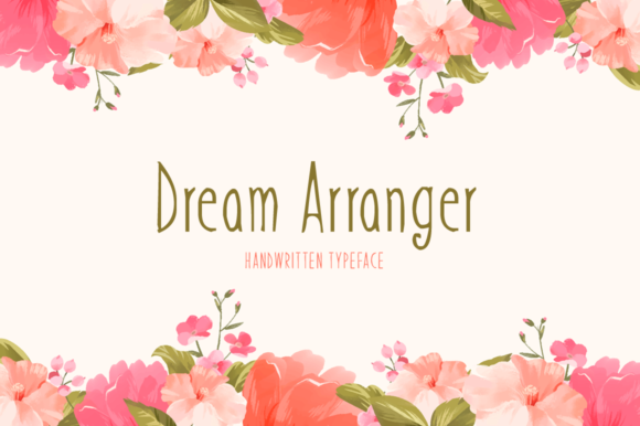 Download Free Dream Arranger Font By Seemly Fonts Creative Fabrica for Cricut Explore, Silhouette and other cutting machines.