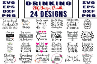 Download Free Drinking Bundle Graphic By Design Store Creative Fabrica for Cricut Explore, Silhouette and other cutting machines.