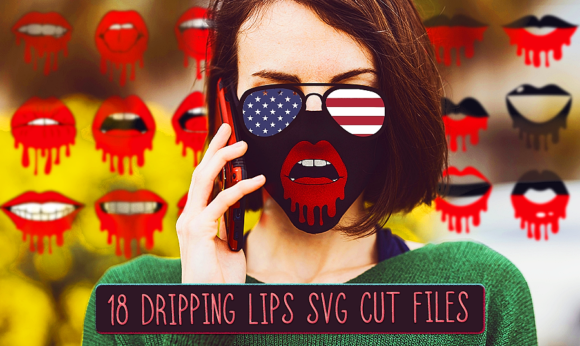 Download Free Dripping Lips Bundle Graphic By Craft N Cuts Creative Fabrica for Cricut Explore, Silhouette and other cutting machines.