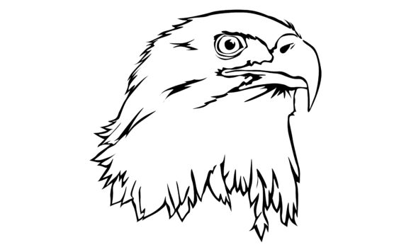Print on Demand: Eagle with Line Art Style Graphic Crafts By Arief Sapta Adjie