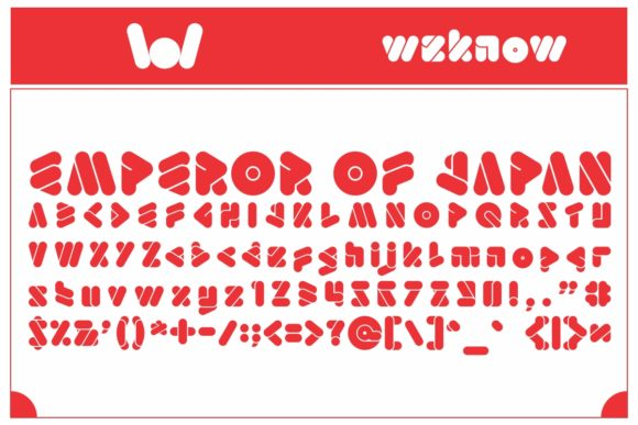Print on Demand: Emperor of Japan Display Font By weknow