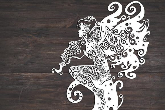 Download Free Fairy Mandala Graphic By Fortunasvg Creative Fabrica for Cricut Explore, Silhouette and other cutting machines.