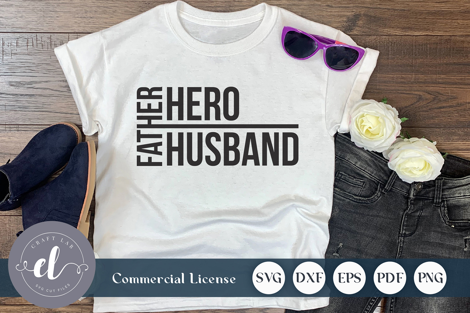 Download Free Father Husband Hero Graphic By Craftlabsvg Creative Fabrica for Cricut Explore, Silhouette and other cutting machines.