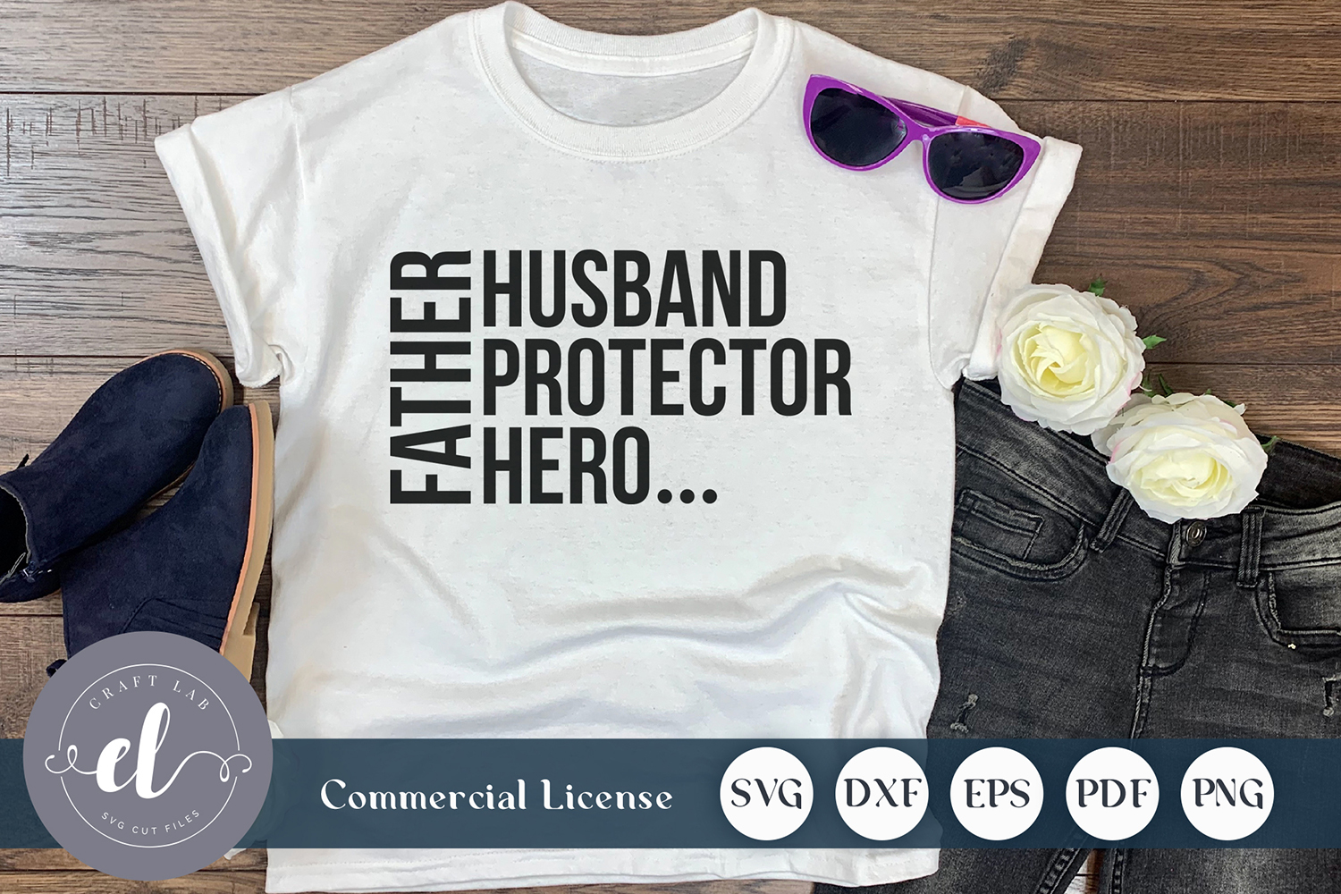 Download Free Father Husband Protector Hero Graphic By Craftlabsvg Creative for Cricut Explore, Silhouette and other cutting machines.