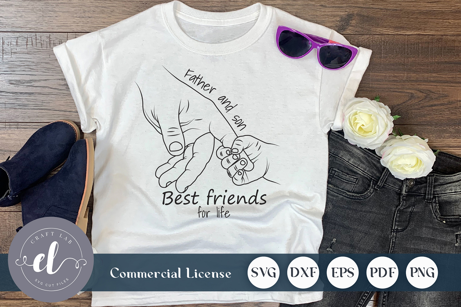 Download Free Father And Son Best Friend For Life Graphic By Craftlabsvg for Cricut Explore, Silhouette and other cutting machines.