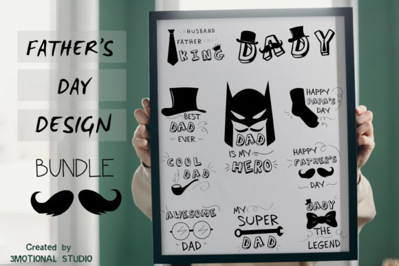 Download Free Father S Day Svg Bundle Cut File Ai Png Graphic By 3motional for Cricut Explore, Silhouette and other cutting machines.