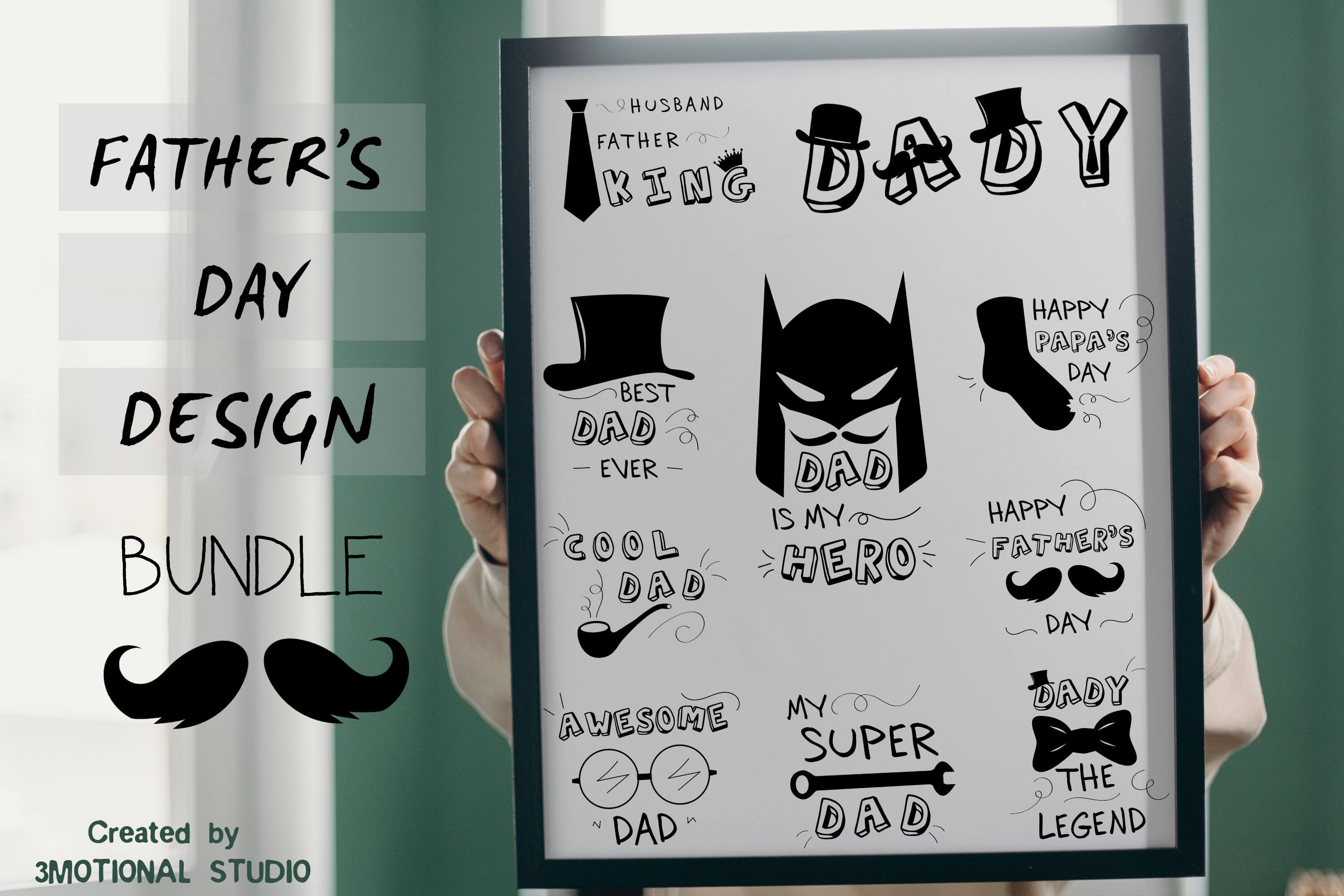 Download Free Father S Day Bundle Graphic By 3motional Creative Fabrica for Cricut Explore, Silhouette and other cutting machines.