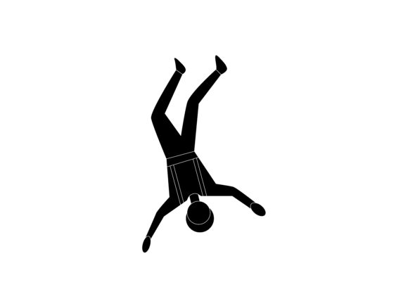 Download Free Free Fall Extreme Sport Silhouette Icon Graphic By for Cricut Explore, Silhouette and other cutting machines.