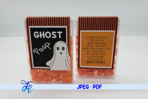 Download Free Ghost Poop Tic Tac Label Graphic By Family Creations for Cricut Explore, Silhouette and other cutting machines.