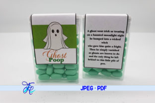 Download Free Ghost Poop Tic Tac Labels Graphic By Family Creations for Cricut Explore, Silhouette and other cutting machines.