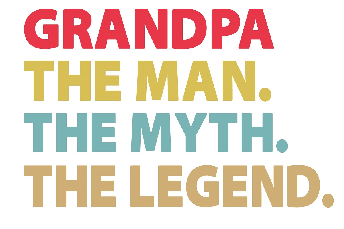 Download Free Grandpa Svg Grandpa The Man The Myth Graphic By Printvectors for Cricut Explore, Silhouette and other cutting machines.