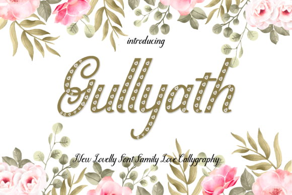 Print on Demand: Gullyath Script & Handwritten Font By MYdesign