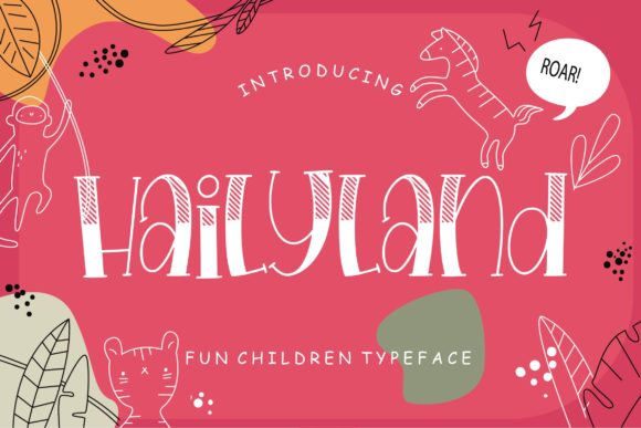 Print on Demand: Hailyland Display Font By CreatypeStudio